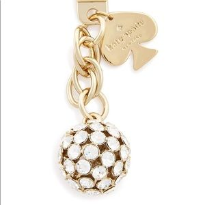 "Kate Spade ""Lady Marmalade"" Clear/ Gold Keychain"